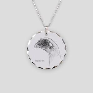 KoShamo hen head Necklace Circle Charm