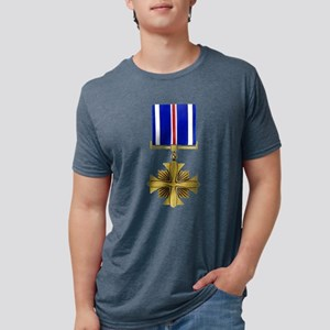 AF dist flying cross trans Mens Tri-blend T-Shirt