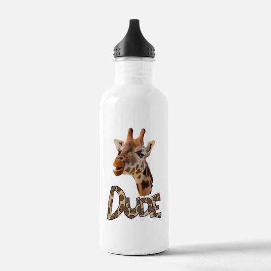 giraffe dude Water Bottle