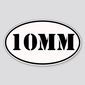 10mm Oval Design Sticker (Oval)
