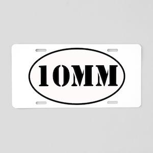 10mm Oval Design Aluminum License Plate