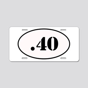 .40 Oval Design Aluminum License Plate
