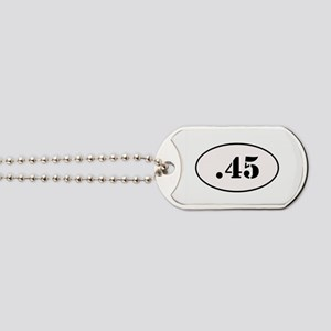 .45 Oval Design Dog Tags