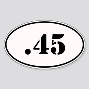 .45 Oval Design Sticker (Oval)