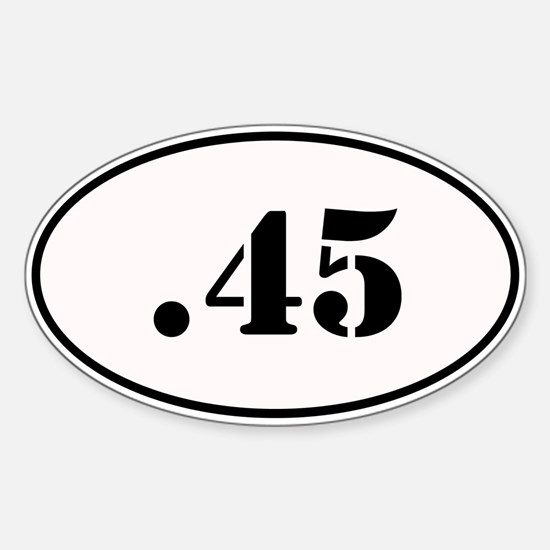 .45 Oval Design Sticker (Oval)