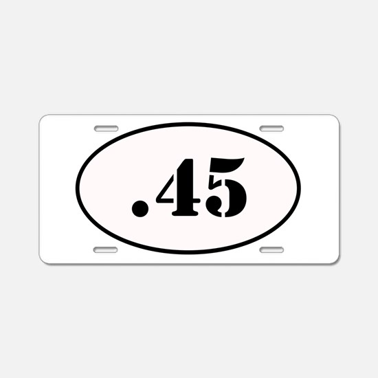.45 Oval Design Aluminum License Plate
