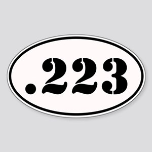 .223 Oval Design Sticker (Oval)