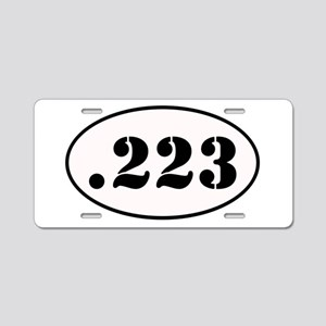 .223 Oval Design Aluminum License Plate