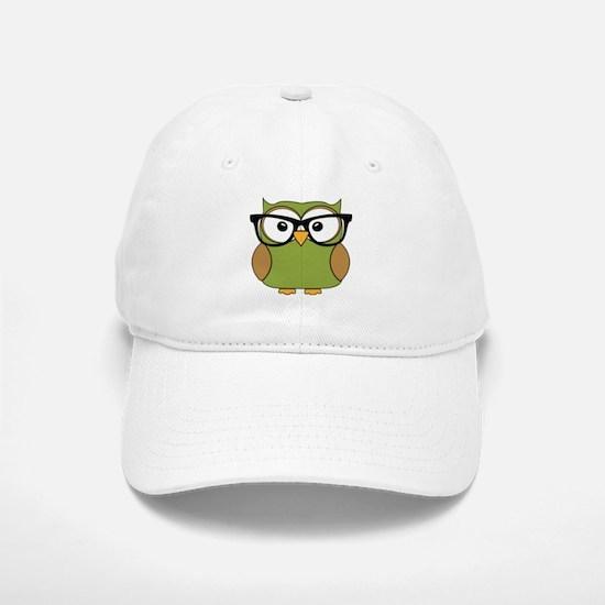Funky Hipster Owl Baseball Baseball Baseball Cap