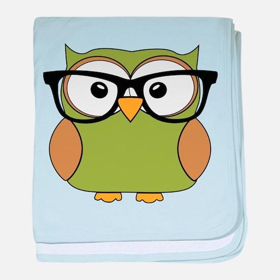 Funky Hipster Owl baby blanket