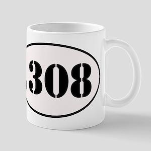 .308 Oval Design Mug
