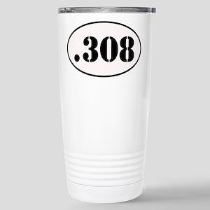.308 Oval Design Stainless Steel Travel Mug