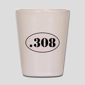 .308 Oval Design Shot Glass
