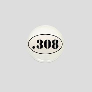 .308 Oval Design Mini Button