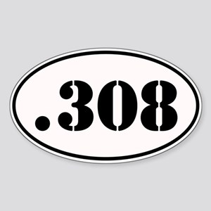.308 Oval Design Sticker (Oval)
