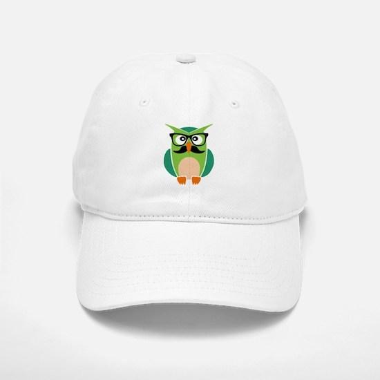 Hipster Owl Baseball Baseball Baseball Cap