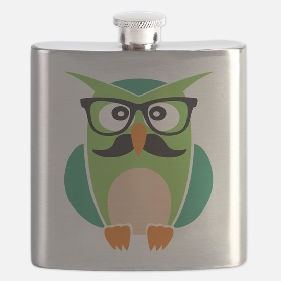 Hipster Owl Flask