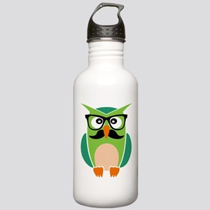 Hipster Owl Water Bottle