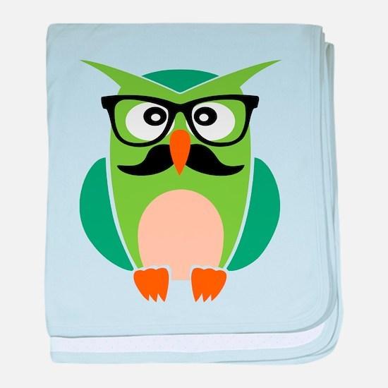 Hipster Owl baby blanket