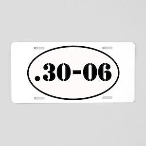 .30-06 Oval Design Aluminum License Plate