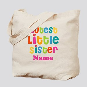 Cutest Little Sister Personalized Tote Bag