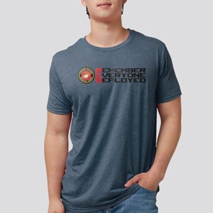 Remember Red Mens Tri-blend T-Shirt