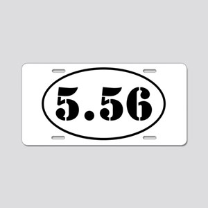 5.56 Oval Design Aluminum License Plate