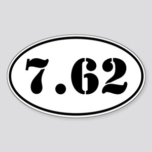 7.62 Oval Design Sticker (Oval)