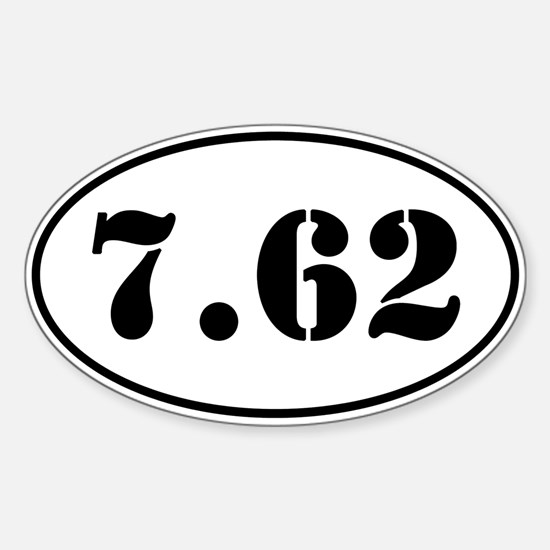 7.62 Oval Design Sticker (Oval)