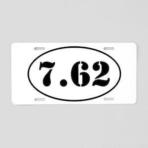 7.62 Oval Design Aluminum License Plate