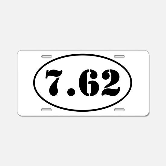 7.62 Oval Design Aluminum License Plate