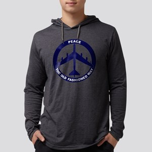 Peace The Old Fashioned Way - B- Mens Hooded Shirt