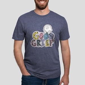Charlie Brown Good Grief Mens Tri-blend T-Shirt