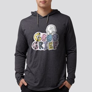 Charlie Brown Good Grief Mens Hooded Shirt