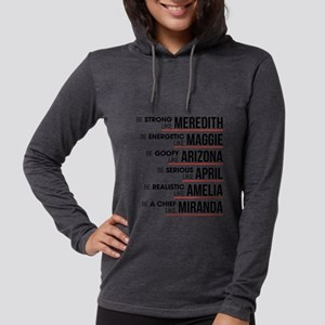 Be Strong like Meredith Womens Hooded Shirt