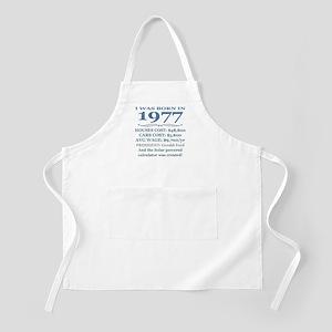 Birthday Facts-1977 Apron