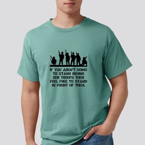 Stand Behind Troops Blac Mens Comfort Colors Shirt