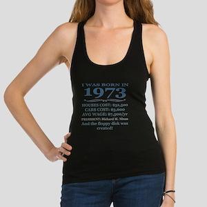 Birthday Facts-1973 Racerback Tank Top