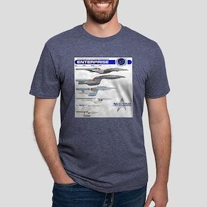 U.S.S. Enterprise Lineage Mens Tri-blend T-Shirt