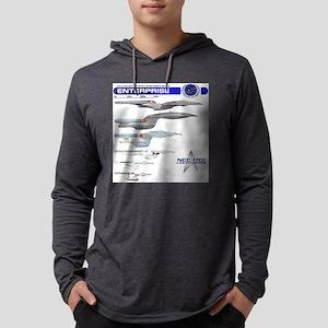 U.S.S. Enterprise Lineage Mens Hooded Shirt