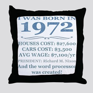 Birthday Facts-1972 Throw Pillow