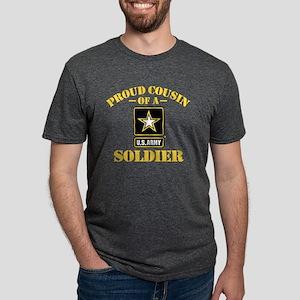 proudarmycousin33b Mens Tri-blend T-Shirt