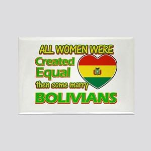 Bolivians Husband designs Rectangle Magnet