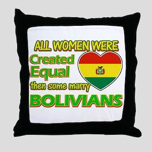 Bolivians Husband designs Throw Pillow