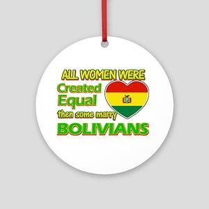 Bolivians Husband designs Ornament (Round)