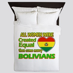Bolivians Husband designs Queen Duvet