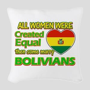 Bolivians Husband designs Woven Throw Pillow
