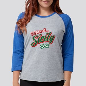 Picture it Sicily 1912 Womens Baseball Tee