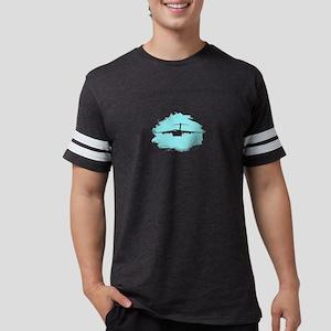 C-17 aircraft cloud silouette Mens Football Shirt