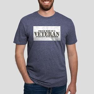 proud wife of a veteran (ir Mens Tri-blend T-Shirt